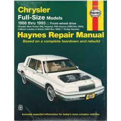CHRYSLER Full-Size Models 1988 TO 1993 MODELS OWNERS WORKSHOP MANUAL / HAYNES