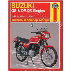 SUZUKI GS & DR125 SINGLES 1982/1994 OWNERS WORKSHOP MANUAL