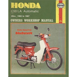 HONDA C50 LA AUTOMATIC 1982/1987 - OWNERS WORKSHOP MANUAL