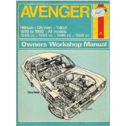 AVENGER - Hillman - Chrysler - Talbot  1970 to 1980 - Owners Workshop Manual - Haynes