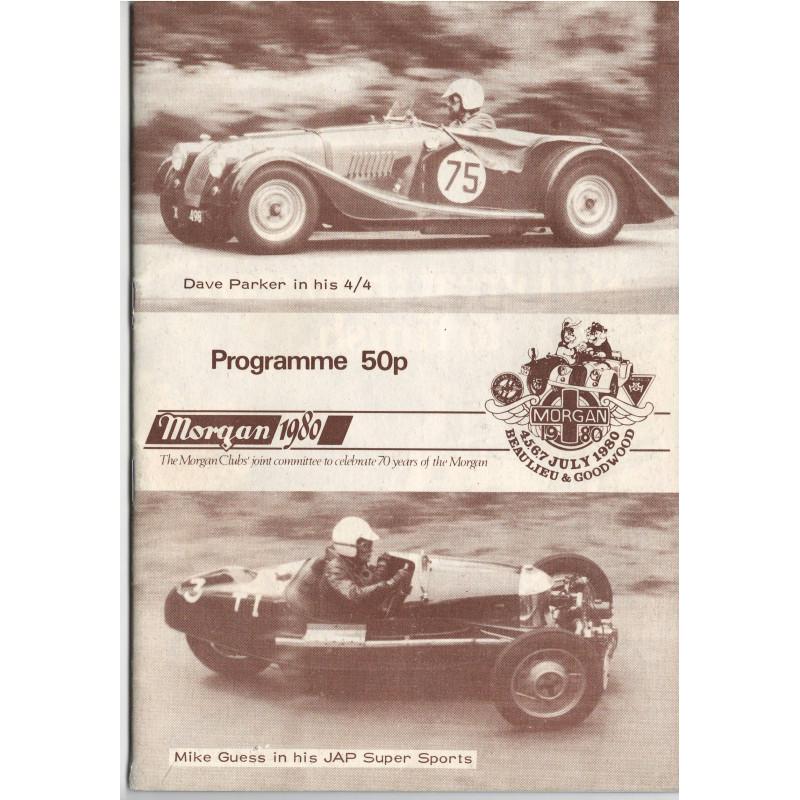 MORGAN 1980 - PROGRAMME 50P BEAULIEU & GOODWOOD Librairie Automobile SPE beaulieu