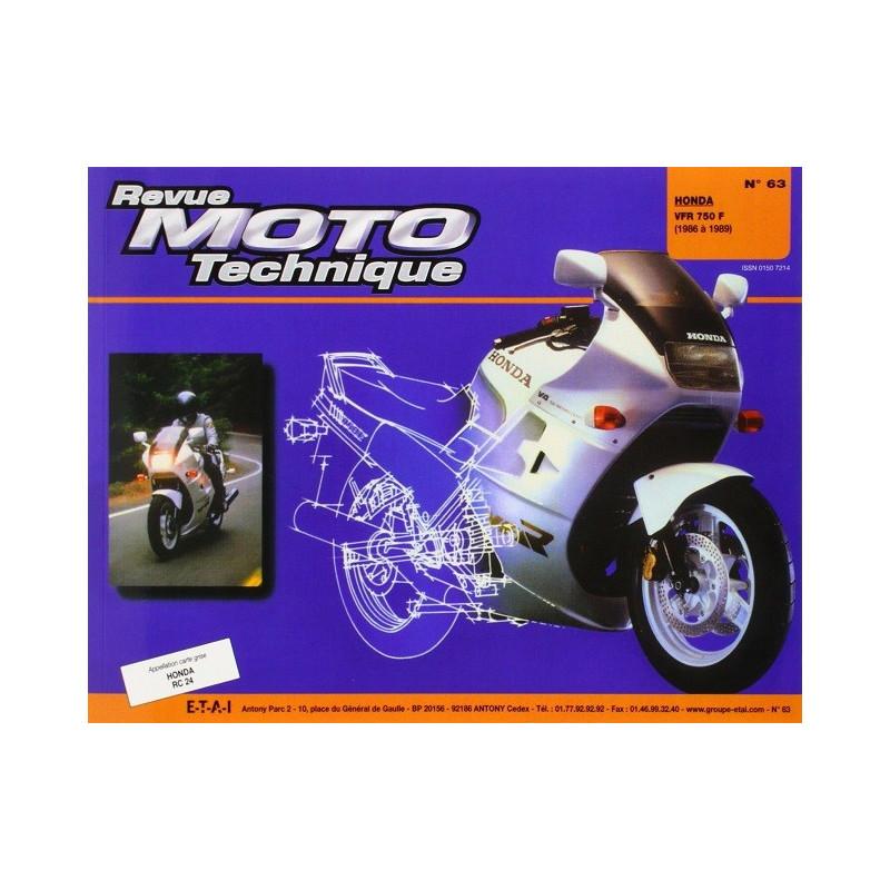 REVUE MOTO TECHNIQUE HONDA VFR 750 de 1986 à 1988 - RMT 63 Librairie Automobile SPE 9782726890578