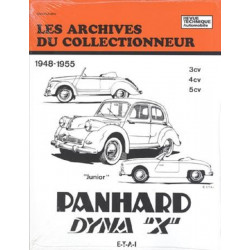 PANHARD DYNA X (1948 à 1955 )- DOCUMENTATION TECHNIQUE ET PRATIQUE (ARC16) Librairie Automobile SPE 9782726899106