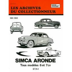 SIMCA ARONDE (1951/1963) ARC03 / ETAI Librairie Automobile SPE 9782726899229