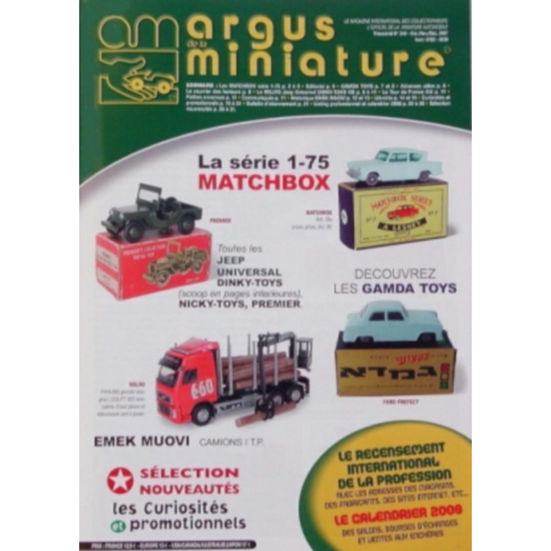 ARGUS MINIATURE N°240 - MATCHBOX GAMDA TOYS Librairie Automobile SPE ARGUS240