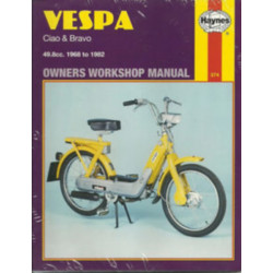 VESPA ( CIAO & BRAVO ) 1968-1982 - OWNERS WORKSHOP MANUAL Librairie Automobile SPE 9780856963742