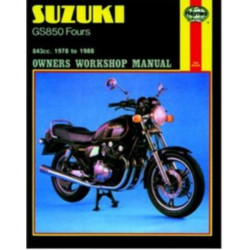 SUZUKI GS850 FOURS 1978/1980 - OWNERS WORKSHOP MANUAL Librairie Automobile SPE 9781850105718