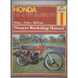 HONDA 125 & 175 ELSINORE 1973 ON - OWNERS WORKSHOP MANUAL Librairie Automobile SPE 9780856963124