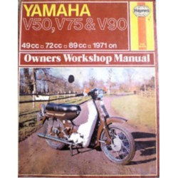 YAMAHA V50 V75 & V90 1971/1978 - OWNERS WORKSHOP MANUAL Librairie Automobile SPE 9780856963322