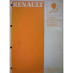 MANUEL DE REPARATION AIR BAGS & PRETENSIONNEURS RENAULT 19 Librairie Automobile SPE 7711096394