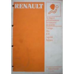 MANUEL DE REPARATION AIR BAGS & PRETENSIONNEURS RENAULT Librairie Automobile SPE 7711173053