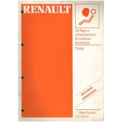 AIR BAG & PRETENSIONNEURS RENAULT TWINGO - MANUEL DE REPARATION Librairie Automobile SPE 7711189014