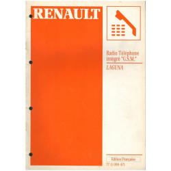 RADIO TELEPHONE INTEGRE GSM RENAULT LAGUNA - MANUEL DE REPARATION Librairie Automobile SPE 7711099471
