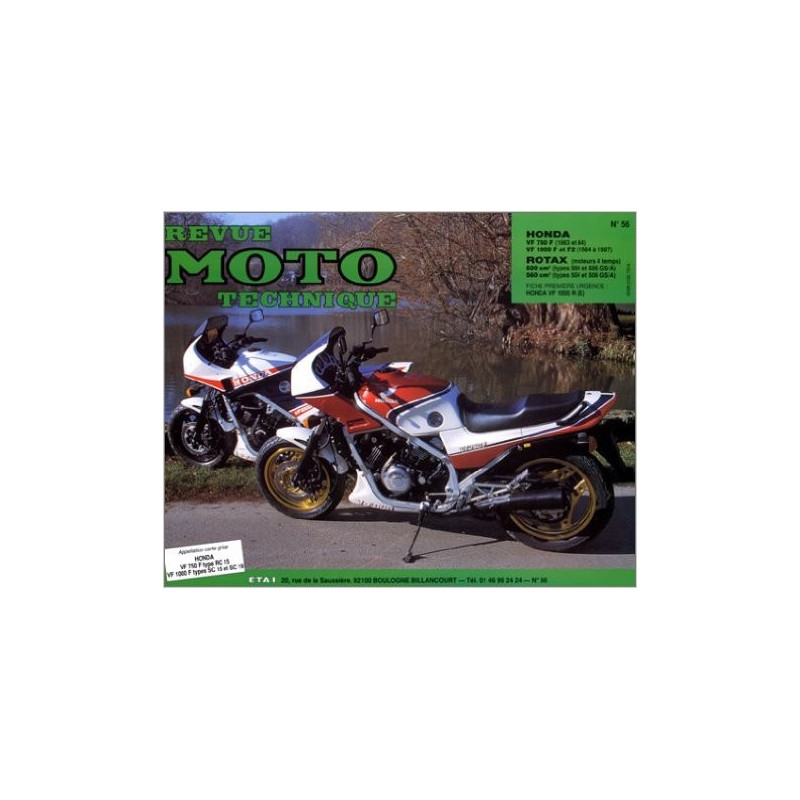 REVUE MOTO TECHNIQUE HONDA VF 650 et VF 1000 - RMT 56 Librairie Automobile SPE 9782726890509