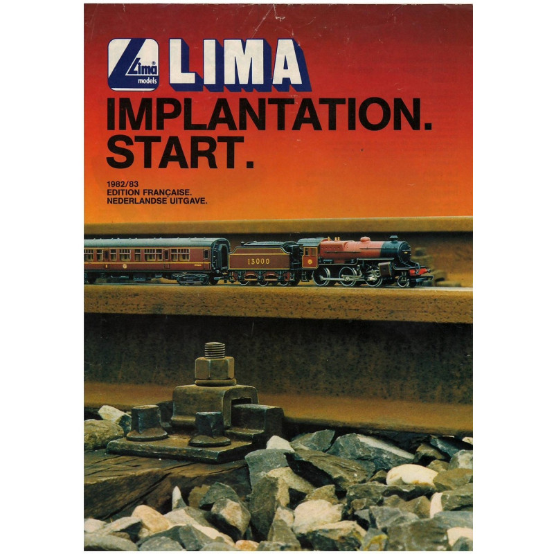 TRAIN LIMA - IMPLANTATION - START 1982/83 Librairie Automobile SPE LIMA