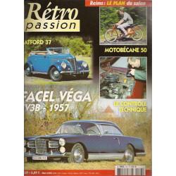 RETRO PASSION FACEL VEGA FV3B 1957 N°137 Librairie Automobile SPE RETRO PASSION N°137
