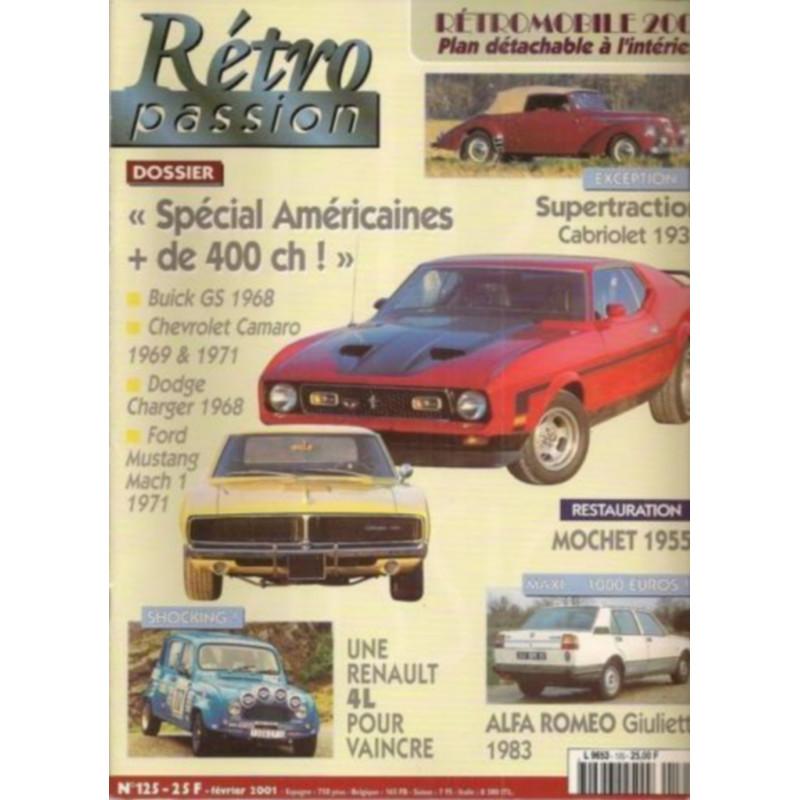 RETRO PASSION BUICK / CAMARO / DODGE / MUSTANF N°125 Librairie Automobile SPE RETRO PASSION N°125