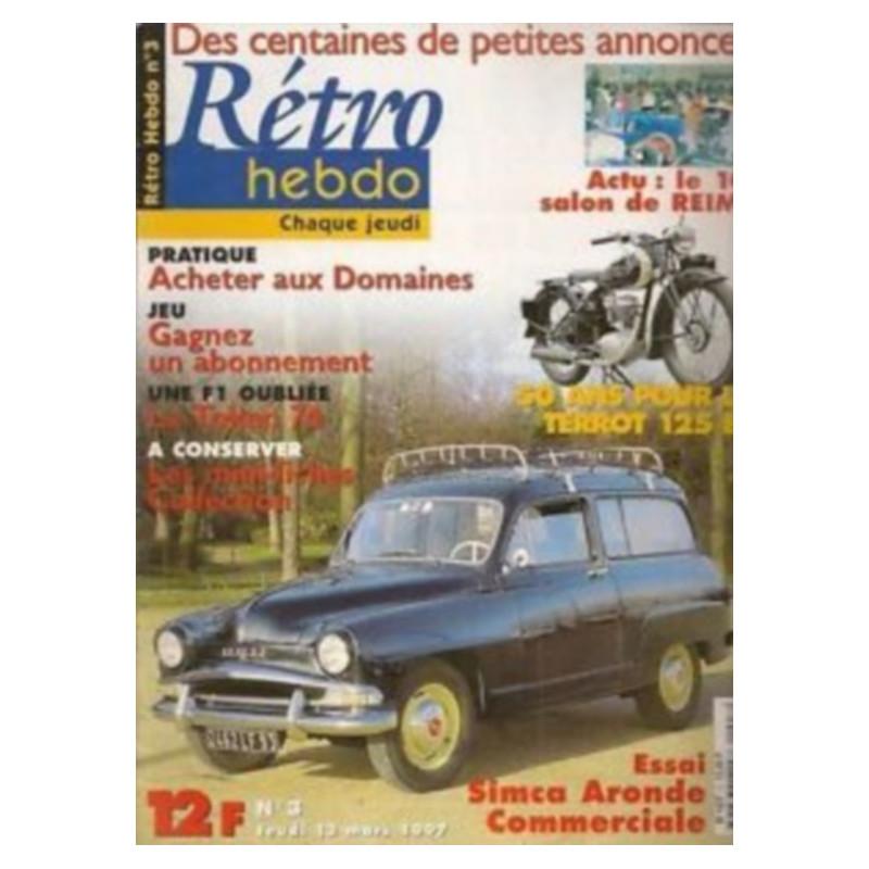 RETRO HEBDO VOLVO P 1880 ES N°2 Librairie Automobile SPE RETRO HEBDO N°2