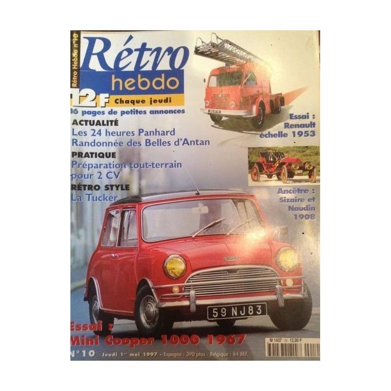 RETRO HEBDO MINI COOPER 1000 de 1967 N°10 Librairie Automobile SPE RETRO HEBDO N°10