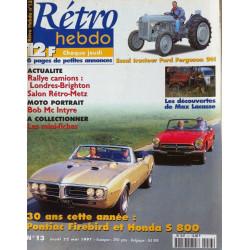 RETRO HEBDO PONTIAC FIREBIRD / HONDA S800 N°13 Librairie Automobile SPE RETRO HEBDO N°13