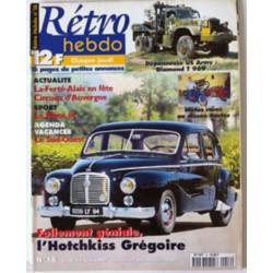 RETRO HEBDO HOTCHKISS GREGOIRE N°16 Librairie Automobile SPE RETRO HEBDO N°16