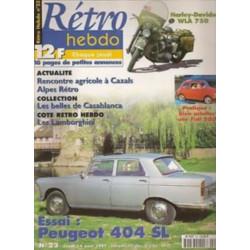 RETRO HEBDO PEUGEOT 404 SL N°23 Librairie Automobile SPE RETRO HEBDO N°23
