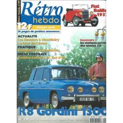 RETRO HEBDO R8 GORDINI 1300 N°29 Librairie Automobile SPE RETRO HEBDO N°29