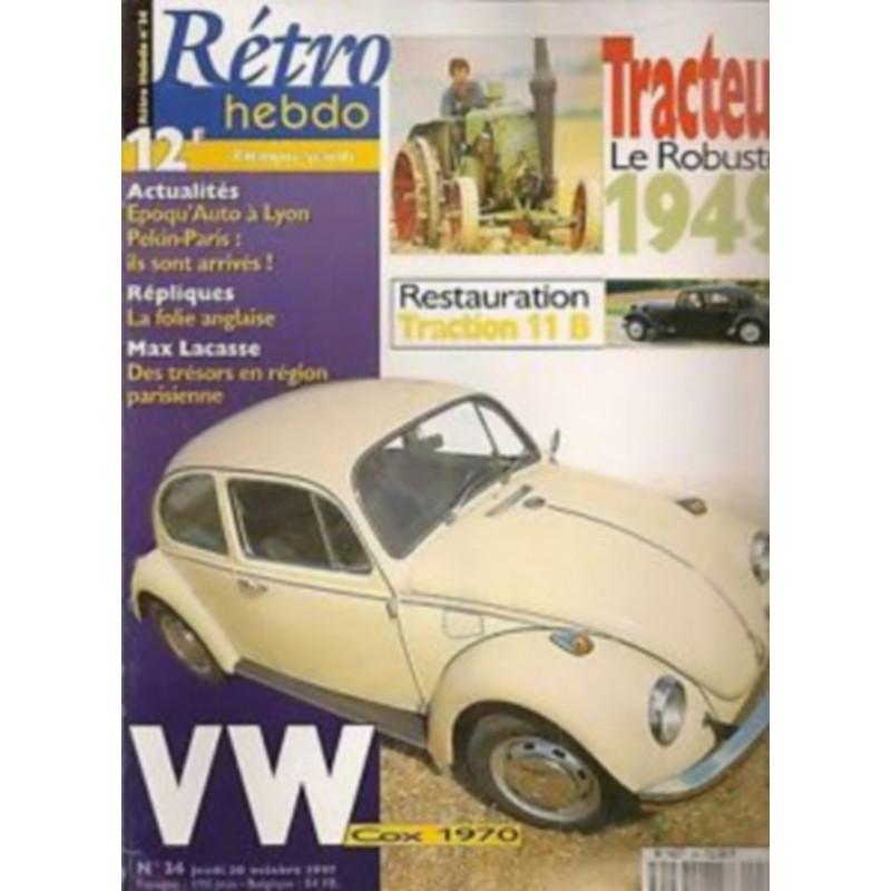 RETRO HEBDO VW COX 1970 N°34 Librairie Automobile SPE RETRO HEBDO N°34