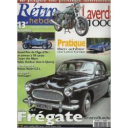 RETRO HEBDO RENAULT FREGATE TRANSFLUIDE N°69 Librairie Automobile SPE RETRO HEBDO N°69