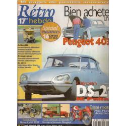 RETRO HEBDO CITROEN DS 21 N°73 Librairie Automobile SPE RETRO HEBDO N°73