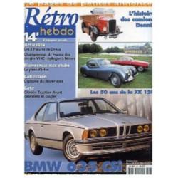 RETRO HEBDO BMW 635 CSI N°81 Librairie Automobile SPE RETRO HEBDO N°81