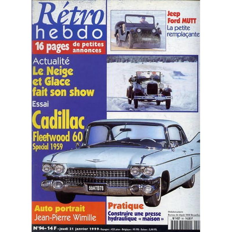RETRO HEBDO CADILLAC FLEETWOOD 60 N°94 Librairie Automobile SPE RETRO HEBDO N°94