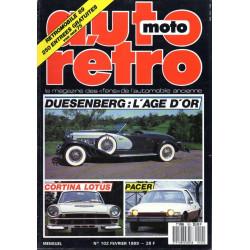 AUTO RETRO DUESENBERG N°102 Librairie Automobile SPE AUTO RETRO N°102