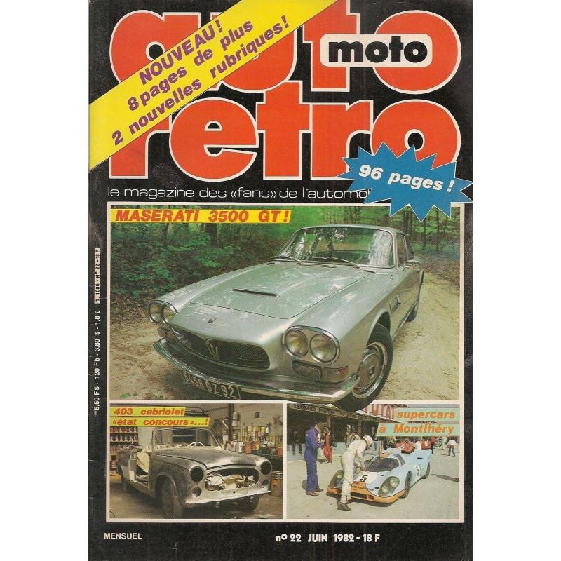 AUTO RETRO MASERATI 3500 GT N°22 Librairie Automobile SPE AUTO RETRO N°22