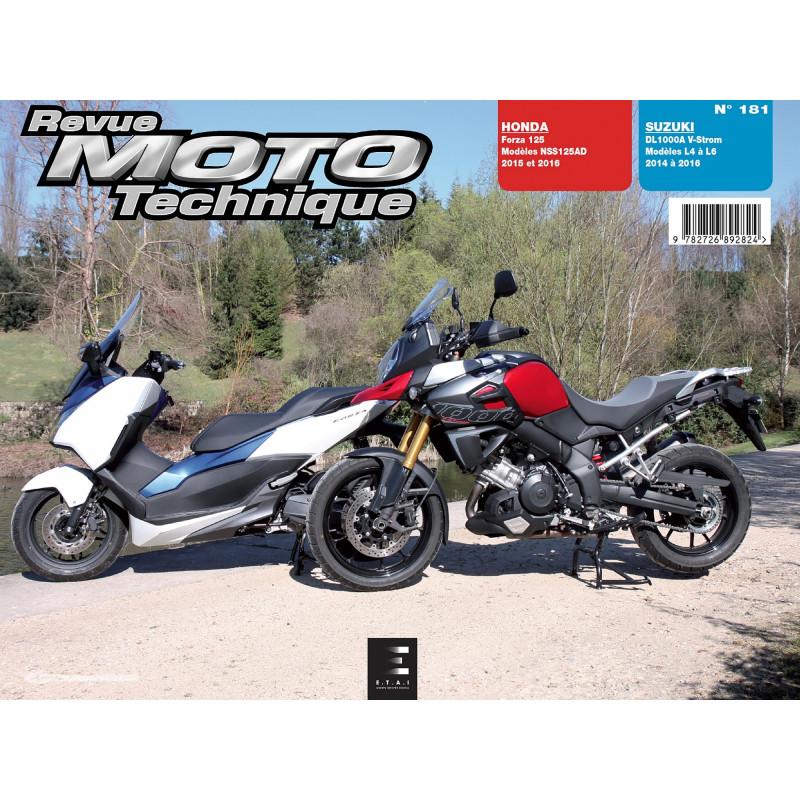 REVUE MOTO TECHNIQUE HONDA FORZA 125 de 2015 et 2016 - RMT 181 Librairie Automobile SPE 9782726892824