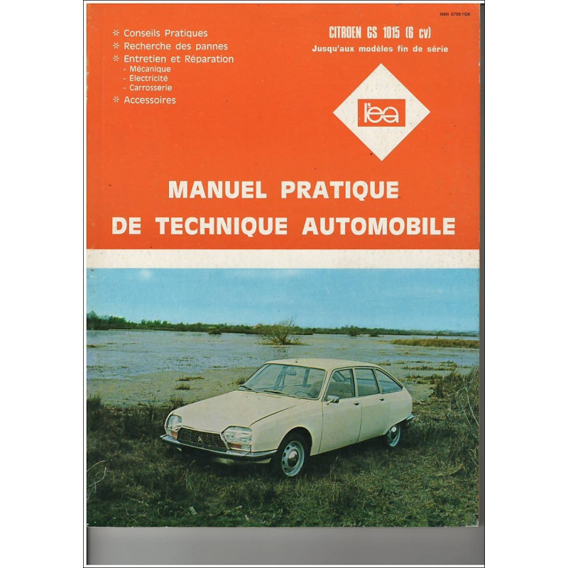 REVUE TECHNIQUE AUTOMOBILE CITROEN GS 1015 (6v) Librairie Automobile SPE 3176420109719