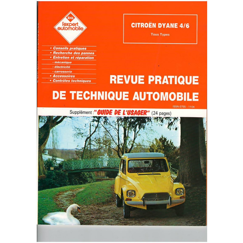 REVUE TECHNIQUE AUTOMOBILE CITROEN DYANE 4/6