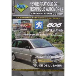 REVUE TECHNIQUE AUTOMOBILE PEUGEOT 806 de 1994 à 2002 Librairie Automobile SPE 3176420209952