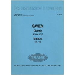 DOCUMENTATION TECHNIQUE SAVIEM CHASSIS JP11 et JP13 MOTEURS 797/798 Librairie Automobile SPE SAVIEM DOC