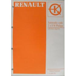 MANUEL DE REPARATION RENAULT AUTORADIO CODE PHILIPS 2X8W Librairie Automobile SPE 7711186554