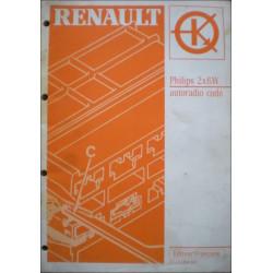 MANUEL DE REPARATION RENAULT AUTORADIO CODE PHILIPS 2X6W Librairie Automobile SPE 7711094141