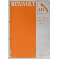 MANUEL DE REPARATION SAFRANE RADIO TELEPHONE INTEGRE GSM RENAULT Librairie Automobile SPE 7711173682