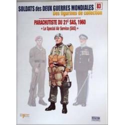 FIGURINES N°83 - PARACHUTISTES DU 21e SAS 1960 Librairie Automobile SPE OSPREY83