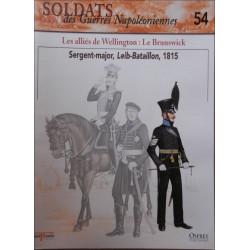 LES ALLIES DE WELLINGTON: LE BRUNSWICK - FASCICULE SOLDATS N°54 Librairie Automobile SPE SOLDAT54