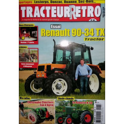 TRACTEUR RETRO N°48 - ESSAI RENAULT 90-34 TX TRACFOR