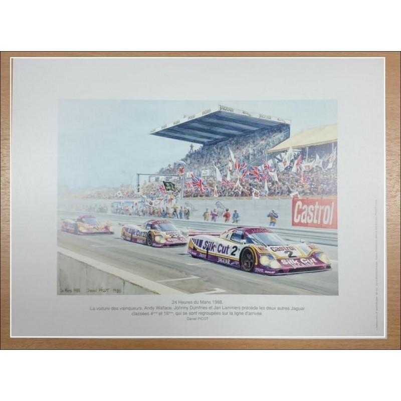Reproduction -24 Heures du Mans 1988 - Daniel PICOT Librairie Automobile SPE picot88