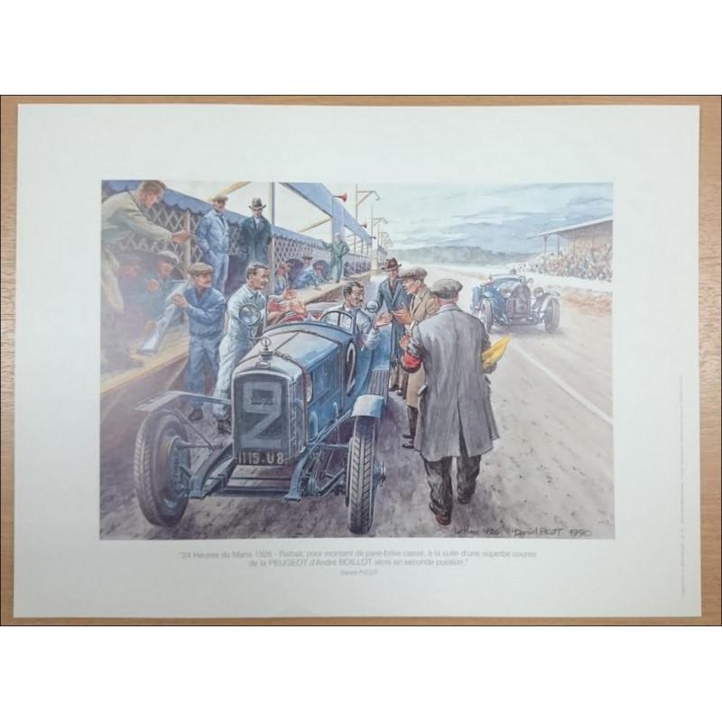 Reproduction - 24 Heures du Mans 1926 Daniel PICOT Librairie Automobile SPE picot26