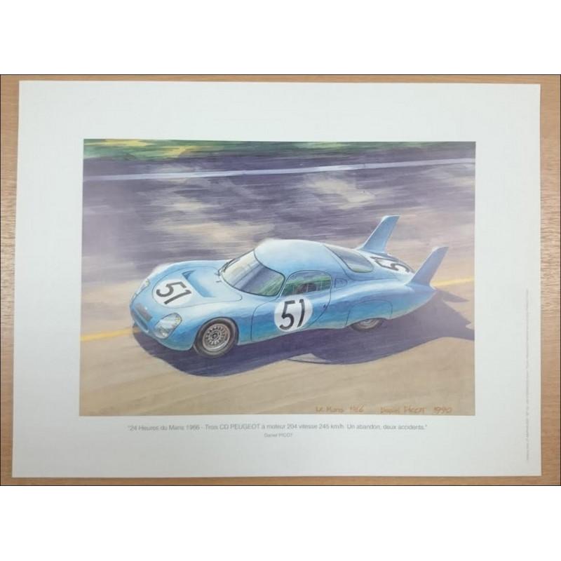 Reproduction - 24 Heures du Mans 1966 Daniel PICOT Librairie Automobile SPE picot66