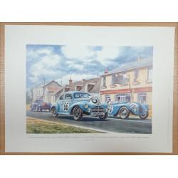Reproduction - 24 Heures du Mans 1953 - PEUGEOT 203, Daniel PICOT Librairie Automobile SPE picot53