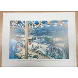 Reproduction - 24 Heures du Mans 1930 - MERCEDES-BENZ SSK, Daniel PICOT Librairie Automobile SPE picot30